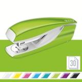 Capsator metalic, 5502 WOW NeXXt Series, 30 coli, verde metalizat, Leitz