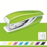 Capsator metalic, WOW 5528 Mini NeXXt Series, 10 coli, verde metalizat, Leitz