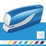 Capsator electric, WOW NeXXt Series, cu baterii, 10 coli, albastru metalizat, Leitz
