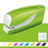 Capsator electric, WOW NeXXt Series, cu baterii, 10 coli, verde metalizat, Leitz
