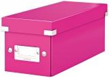 Cutie Click & Store WOW, pentru 30 CD-uri, Leitz roz