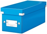 Cutie Click & Store WOW, pentru 30 CD-uri, Leitz albastru