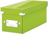 Cutie Click & Store WOW, pentru 30 CD-uri, Leitz verde
