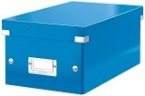 Cutie pentru DVD-uri Click & Store WOW Leitz albastru metalizat