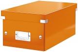 Cutie pentru 20 DVD-uri Click&Store WOW Leitz portocaliu metalizat