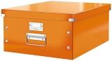 Cutie A3 mare pentru depozitare Click&Store WOW Leitz portocaliu metalizat