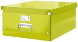 Cutie A3 mare pentru depozitare Click&Store WOW Leitz verde metalizat