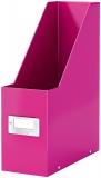 Suport vertical pentru documente Click & Store WOW Leitz roz metalizat