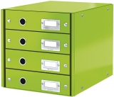 Suport cu 4 sertare Click & Store WOW Leitz verde metalizat