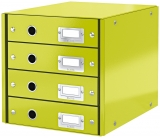 Suport cu 4 sertare Click&Store WOW Leitz verde metalizat
