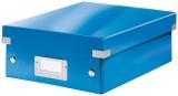 Cutie mica Organizer Click & Store WOW Leitz albastru metalizat