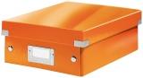 Cutie A5 Organizer Click&Store Leitz WOW portocaliu metalizat