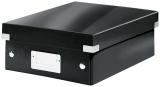 Cutie mica Organizer Click & Store WOW Leitz negru metalizat