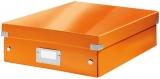 Cutie A4 Organizer Click&Store Leitz WOW portocaliu metalizat