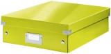 Cutie A4 Organizer Click&Store Leitz WOW verde metalizat