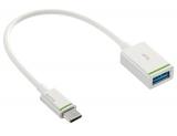 Cablu adaptor Complete tip USB-C la tip USB-A(F) 15 cm alb Leitz