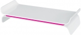Suport ergonomic Ergo WOW, pentru monitor, ajustabil, Leitz roz