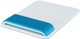 Mouse pad Ergo WOW cu suport ergonomic pentru incheietura mainii, ajustabil, Leitz albastru