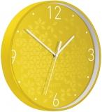 Ceas silentios pentru perete WOW Leitz galben