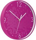Ceas silentios pentru perete WOW Leitz roz