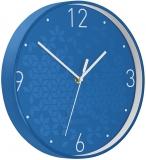 Ceas silentios pentru perete WOW Leitz albastru