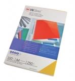 Coperta carton pentru legare 250 g A4 albastru lucios 100 buc/set GBC