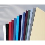 Coperta carton pentru legare cu aspect de piele 250 g A4 albastru inchis 100 buc/set GBC