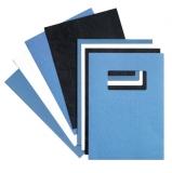 Coperta carton pentru legare cu aspect de piele 250 g A4 albastru roial 100 buc/set GBC