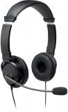Casti On-Ear Hi-Fi, reglabile, cablu USB 1.8 m, culoare negru, Kensington