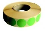 Etichete rotunde 35 mm 4000 buc/rola verde neon