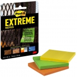 Notite adezive Post-it Extreme, 76 x 76 mm, 3 culori, 135 file/set 3M