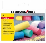Creta colorata Faber pentru desen pe asfalt 6 culori