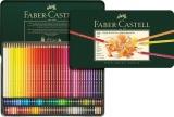 Creioane colorate Polychromos, cutie metal, 120 culori/set Faber-Castell