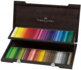 Set creioane colorate Polychromos, cutie lemn, 120 culori/set Faber-Castell