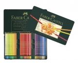 Creioane colorate Polychromos, cutie metal, 60 culori/set Faber-Castell