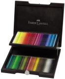 Creioane colorate Polychromos, cutie lemn, 72 culori/set Faber-Castell