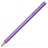 Creion grafit B Sparkle Jumbo violet 2019 Faber-Castell