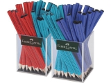 Creion grafit Jumbo Grip 2 x 36 cutie plastic culori asortate Faber-Castell