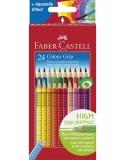 Creioane colorate 24 culori Grip 2001 Faber-Castell