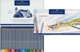 Creioane colorate Aquarelle 36 culori Goldfaber cut. metal Faber-Castell