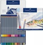 Creioane colorate Aquarelle Goldfaber, cutie metal, 48 culori/set Faber-Castell