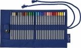 Rollup 27 Creioane Colorate Aquarelle Goldfaber + Accesorii Faber-Castell