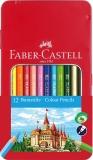 Creioane Colorate cutie metal 12 culori/set Faber-Castell
