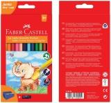 Creioane Colorate Triunghiulare Jumbo 24 culori Faber-Castell