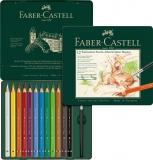 Creioane colorate A.Durer Magnus Cutie Metal 12 culori/set Faber-Castell