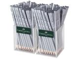 Creion grafit fara guma Grip 2001 2 x 72 cutie plastic gri Faber-Castell