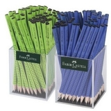 Creion grafit fara guma Grip 2001 2 x 72 cutie plastic albastru-vernil Faber-Castell