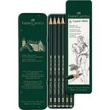 Creion Grafit Castell 9000, 6 buc/set Faber-Castell