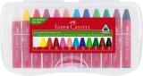 Creioane cerate Jumbo, cutie plastic, 12 culori/set Faber-Castell