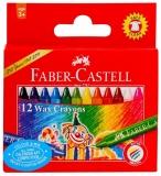 Creioane colorate cerate, 12 culori/set Faber Castell